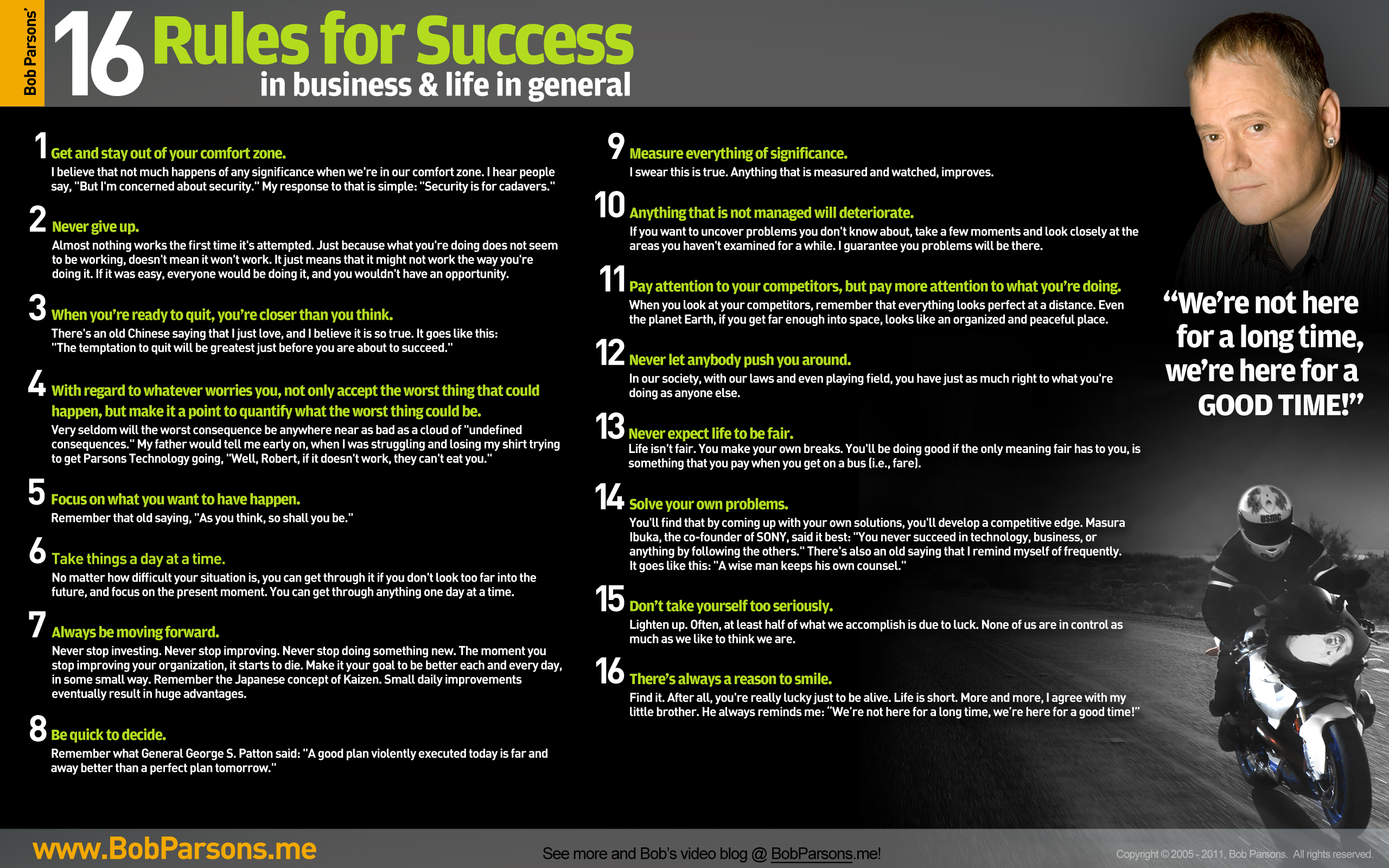 16 Rules of Success